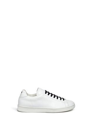 Main View - Click To Enlarge - Joshua Sanders - 'N.Y.' letter print leather sneakers