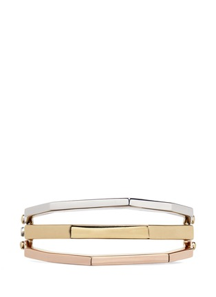 Main View - Click To Enlarge - W.Britt - 'Flip Bracelet' convertible gold plated bangle