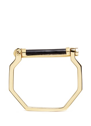 Main View - Click To Enlarge - W.Britt - 'Octagon Bar' inset onyx bangle