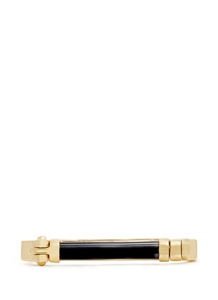 Figure View - Click To Enlarge - W.Britt - 'Octagon Bar' inset onyx bangle