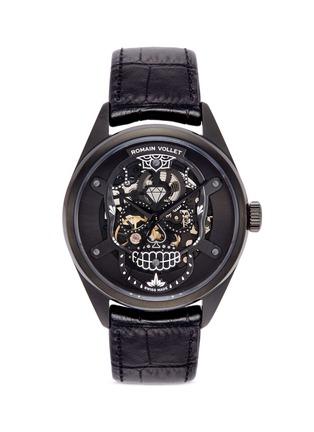 Main View - Click To Enlarge - ROMAIN VOLLET - Motor Skull 555 Deepblack skeleton watch