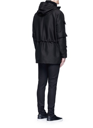Back View - Click To Enlarge - Givenchy - Flag patch parka coat
