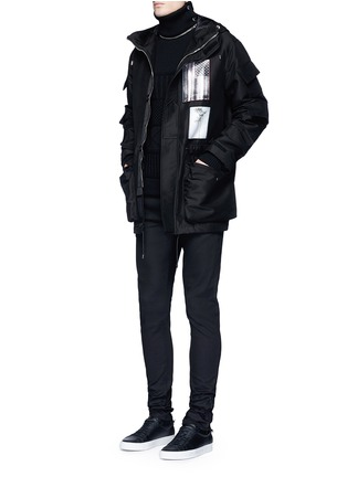 Figure View - Click To Enlarge - Givenchy - Flag patch parka coat