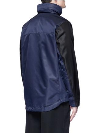 Back View - Click To Enlarge - Givenchy Beauty - Bicolour ballistic nylon hood jacket
