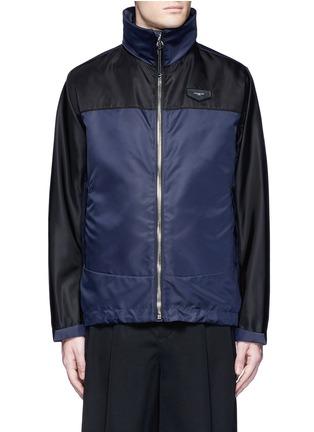 Main View - Click To Enlarge - Givenchy Beauty - Bicolour ballistic nylon hood jacket