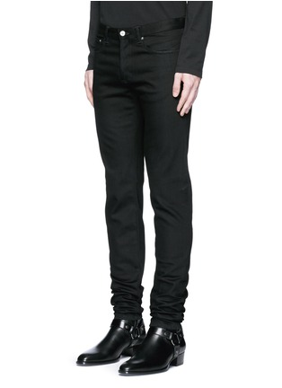 Front View - Click To Enlarge - Givenchy - 'Rico' back strap skinny jeans