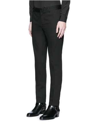 Front View - Click To Enlarge - Givenchy - Slim fit cotton chinos