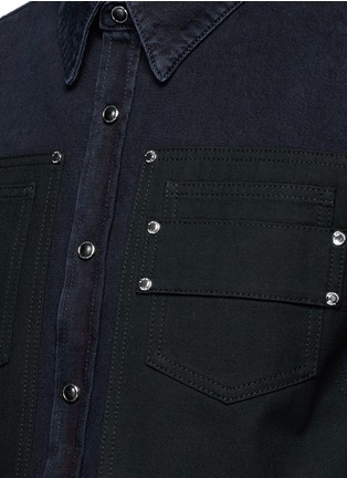 Detail View - Click To Enlarge - Givenchy - Contrast front denim shirt