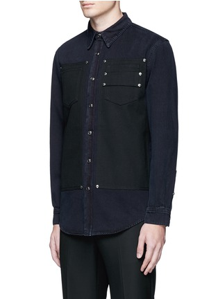 Front View - Click To Enlarge - Givenchy - Contrast front denim shirt