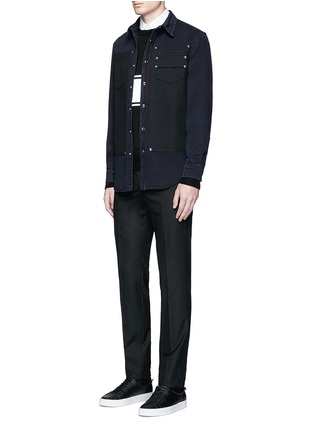 Figure View - Click To Enlarge - GIVENCHY - Contrast front denim shirt