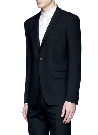 Front View - Click To Enlarge - GIVENCHY - Notched lapel wool suit