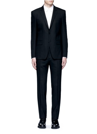 Main View - Click To Enlarge - GIVENCHY - Notched lapel wool suit