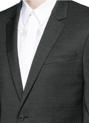 Detail View - Click To Enlarge - Givenchy - Notch lapel speckled wool suit