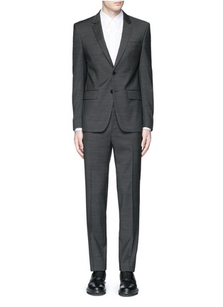 Main View - Click To Enlarge - Givenchy - Notch lapel speckled wool suit