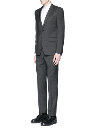 Figure View - Click To Enlarge - GIVENCHY - Notch lapel speckled wool suit
