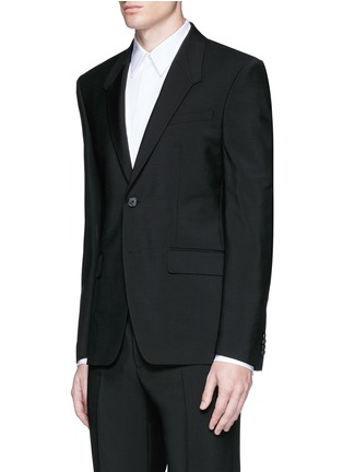Front View - Click To Enlarge - Givenchy - Madonna collar wool-Mohair suit