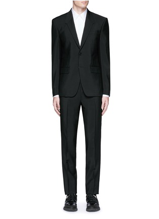 Main View - Click To Enlarge - Givenchy - Madonna collar wool-Mohair suit