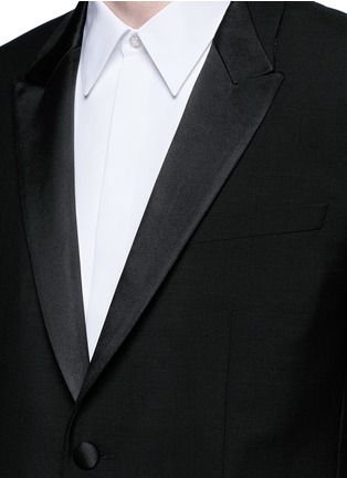 Detail View - Click To Enlarge - Givenchy - Satin lapel wool-Mohair tuxedo suit