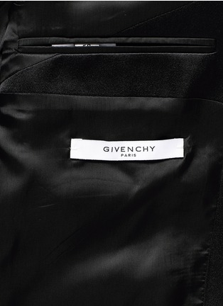 - Givenchy - Satin lapel wool-Mohair tuxedo suit