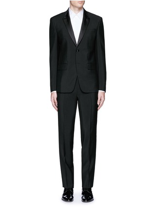 Main View - Click To Enlarge - Givenchy - Satin lapel wool-Mohair tuxedo suit