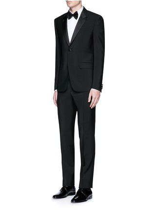 Figure View - Click To Enlarge - Givenchy - Satin lapel wool-Mohair tuxedo suit