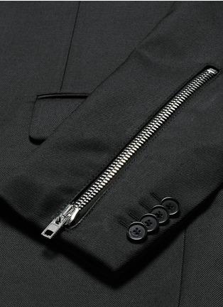 - Givenchy - Zip cuff wool blend twill blazer