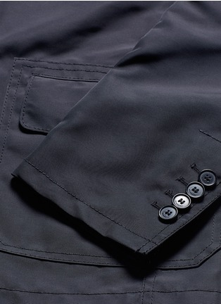 Detail View - Click To Enlarge - Givenchy - Patch pocket nylon soft blazer