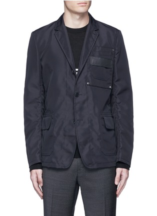 Main View - Click To Enlarge - Givenchy - Patch pocket nylon soft blazer
