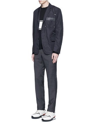 Figure View - Click To Enlarge - Givenchy - Patch pocket nylon soft blazer