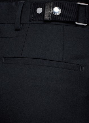 Detail View - Click To Enlarge - Givenchy - Side strap wool pants