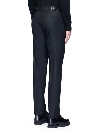 Back View - Click To Enlarge - Givenchy - Side strap wool pants