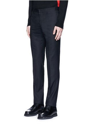 Front View - Click To Enlarge - Givenchy - Side strap wool pants