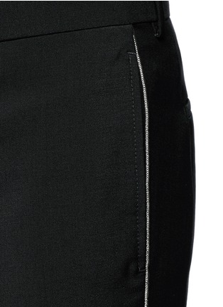 Detail View - Click To Enlarge - Givenchy - Curb chain side stripe wool-Mohair pants