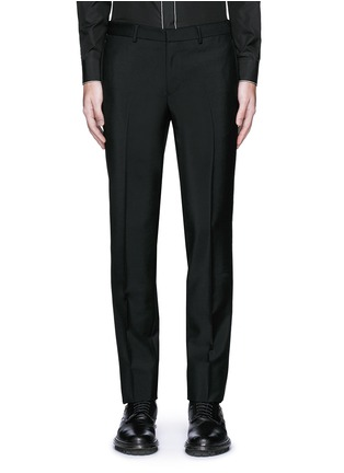 Main View - Click To Enlarge - Givenchy - Curb chain side stripe wool-Mohair pants