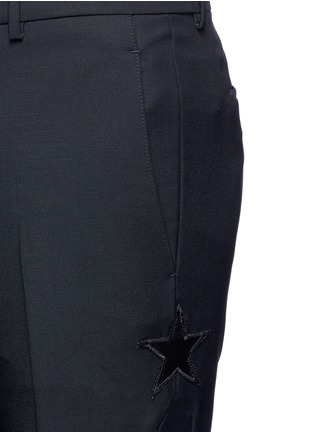 Detail View - Click To Enlarge - Givenchy - Tuxedo stripe wool-Mohair pants
