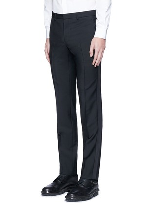Front View - Click To Enlarge - Givenchy - Tuxedo stripe wool-Mohair pants