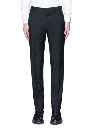 Main View - Click To Enlarge - Givenchy - Tuxedo stripe wool-Mohair pants
