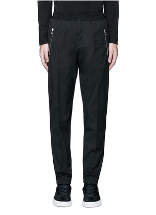 Main View - Click To Enlarge - Givenchy - Slim fit wool gabardine jogging pants