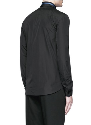 Back View - Click To Enlarge - Givenchy - Stripe collar cotton shirt