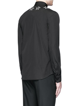 Back View - Click To Enlarge - GIVENCHY - Star embroidery cotton shirt