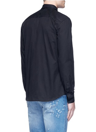Back View - Click To Enlarge - Givenchy - Monkey badge patch cotton twill shirt