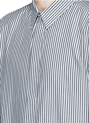Detail View - Click To Enlarge - GIVENCHY - Hopsack patch stripe shirt