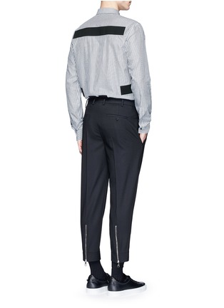 Figure View - Click To Enlarge - GIVENCHY - Hopsack patch stripe shirt