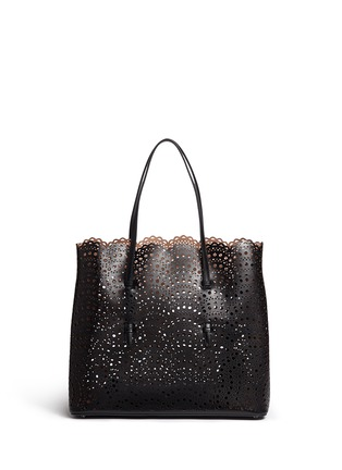 Main View - Click To Enlarge - AZZEDINE ALAÏA - 'Vienne Vague' large lasercut leather tote
