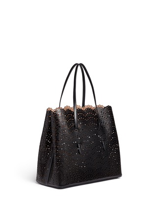 Figure View - Click To Enlarge - AZZEDINE ALAÏA - 'Vienne Vague' large lasercut leather tote
