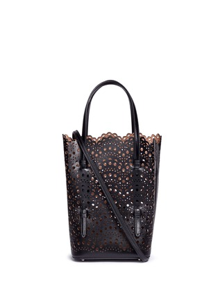 Main View - Click To Enlarge - Alaïa - 'Vienne Vague' small leather tote