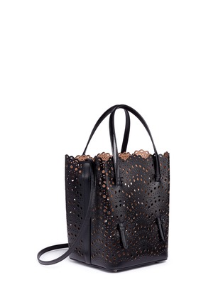 Figure View - Click To Enlarge - Alaïa - 'Vienne Vague' small leather tote