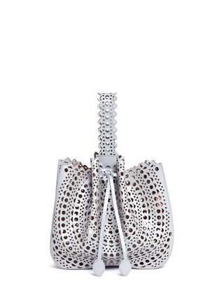 Main View - Click To Enlarge - Alaïa - 'New Vienne' medium lasercut leather bucket tote