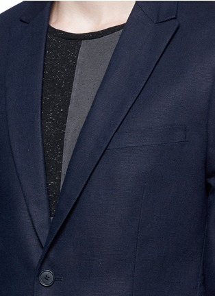 Detail View - Click To Enlarge - 70001 - Notch lapel cotton-linen blazer