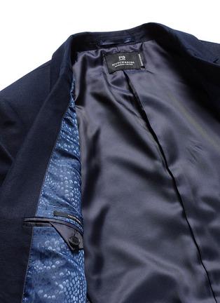 - 70001 - Notch lapel cotton-linen blazer